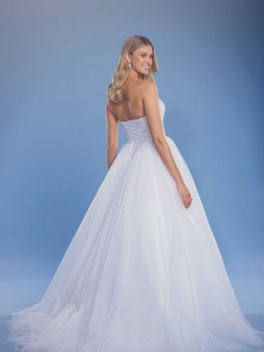 Arabella ball gown wedding dress full back shot