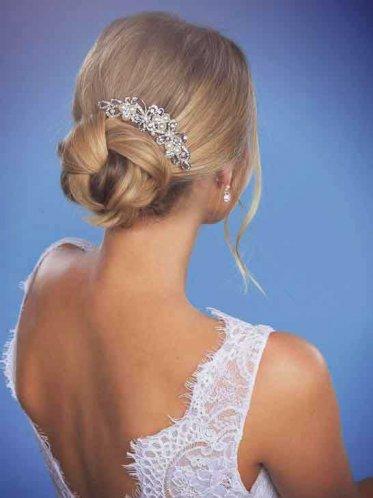 Close up of backless debutante dress