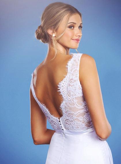 Backless wedding dress Florence