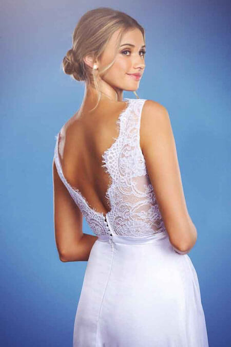 Lace backless debutante dress Florence