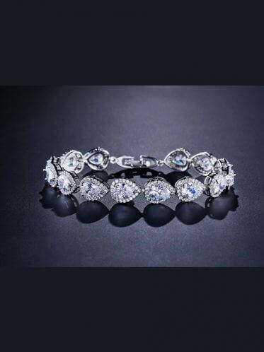 Halo wedding bracelet