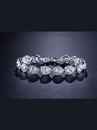 Halo wedding bracelet