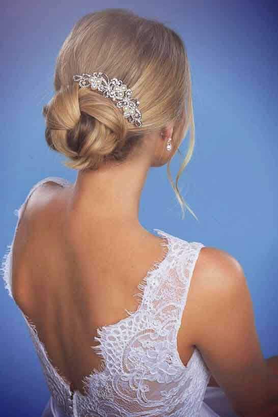 Jewellery to suit a low back style.