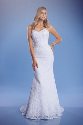 Lace mermaid wedding dress strapless