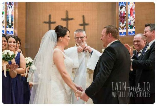 Melanies wedding ceremony