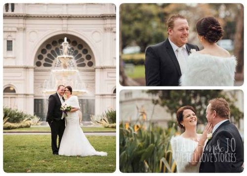 Melanies Melbourne wedding at Exhibition Building