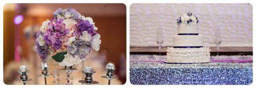Melanies wedding cake with purple theme