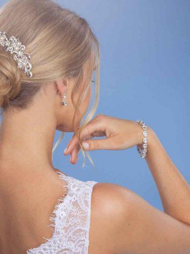 Sophia bridal bracelet on model
