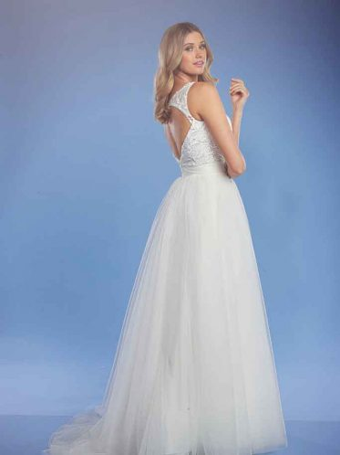 Key hole Back Krissy white wedding dress
