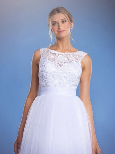 Krissy white wedding dresses