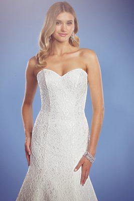 Zara lace wedding gown corset bodice