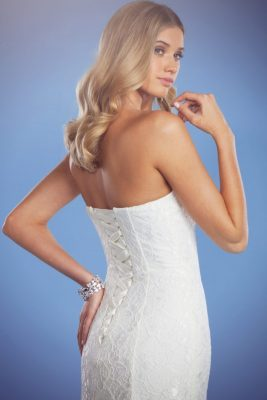 Zara lace wedding gown with corset back