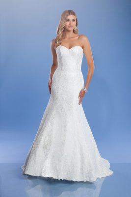 Zara lace wedding gown full length