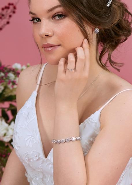 bridal bracelet silver
