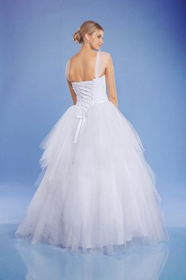 Ashley white debutante dress