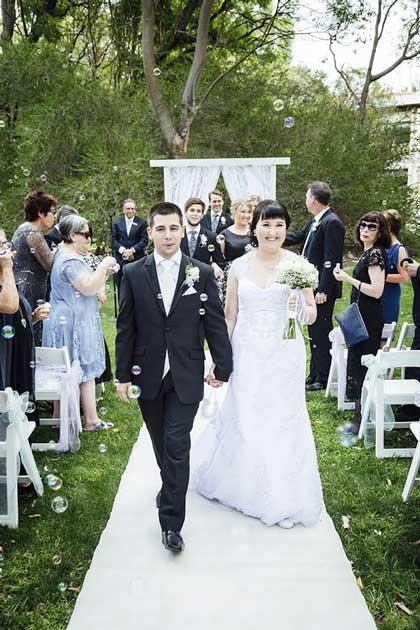Alex and Nicholes garden wedding