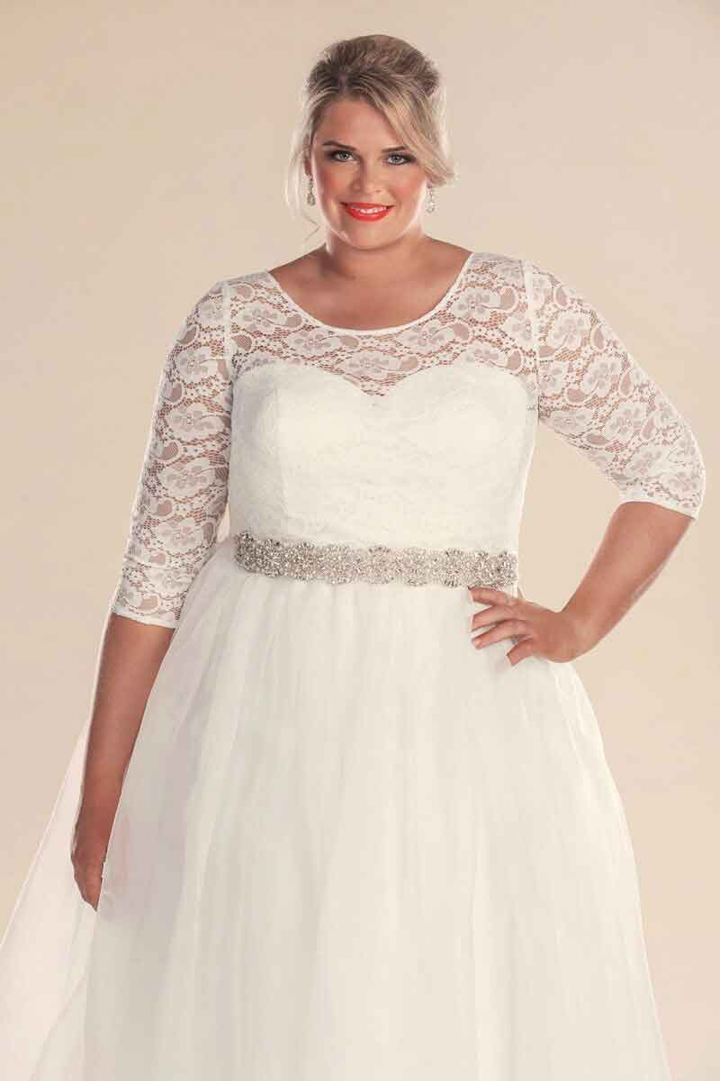 Retro wedding dresses Melbourne | Plus size wedding dresses