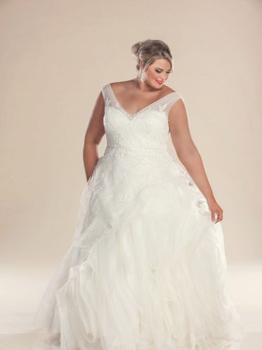 leah s designs Designer plus size wedding dresses