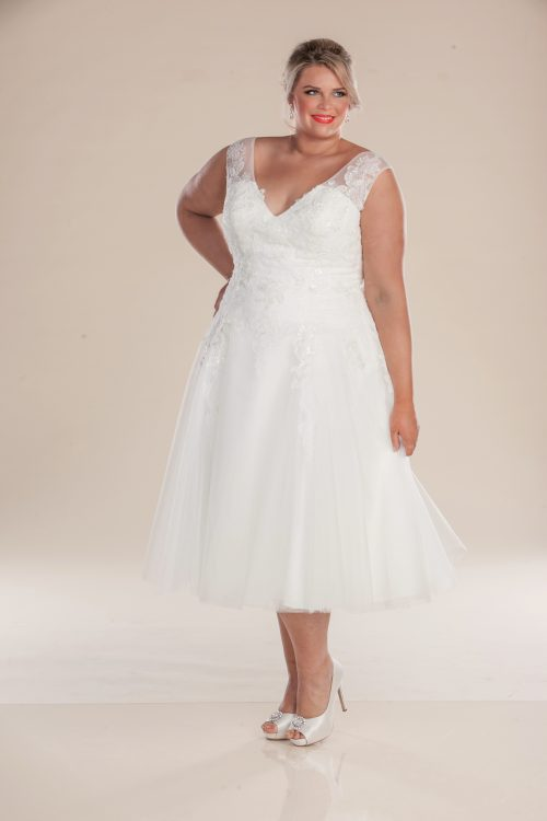 leah s designs T length vintage style wedding dress