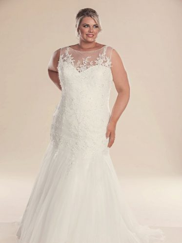 leah s designs Mermaid plus size wedding dress