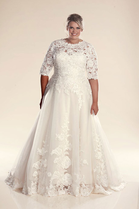 Paris wedding dress with sleeves