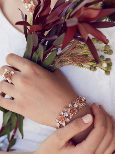 Sydney bridal bracelet and ring