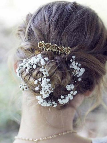 gold Melbourne wedding hair comb