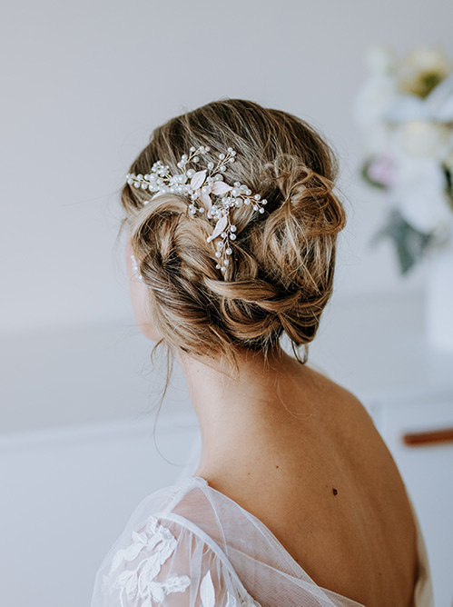 pretty pearl hair comb from Leah S