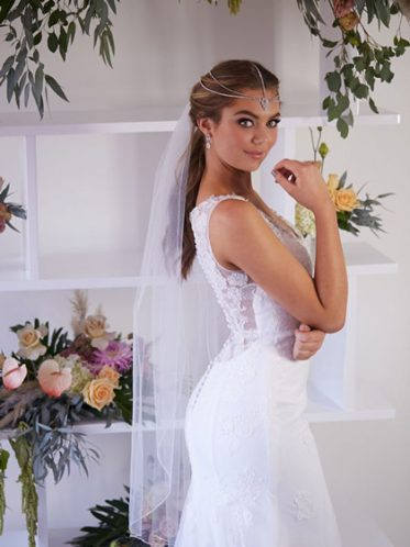 Lace back wedding dress Rosebud