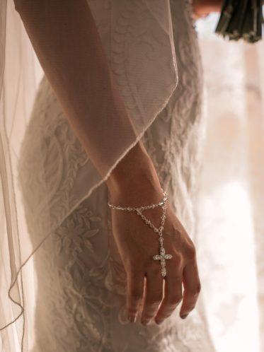 bridal rosary bracelet