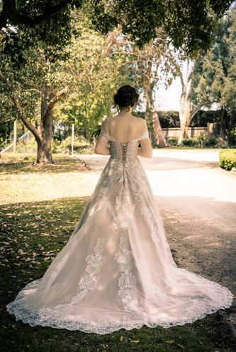 Katherine Latte wedding dresses back