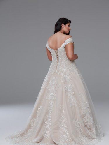 Plus size Aline wedding dresses