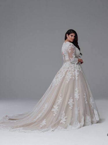 Long sleeve bridal gowns the Grace