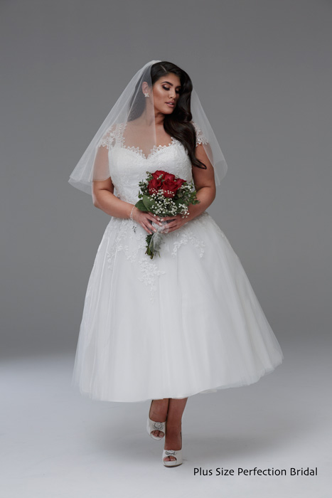 Vintage wedding dresses short Anna