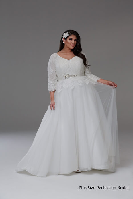 Long sleeve plus size wedding dressTanya
