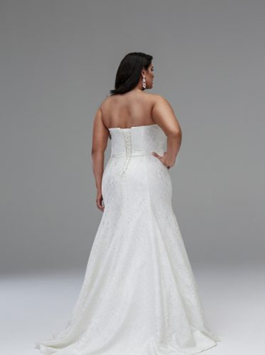 Mermaid wedding dresses plus size back