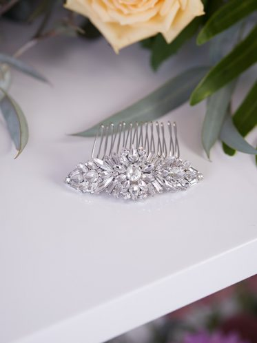 Cinderella wedding comb for bridal hair style