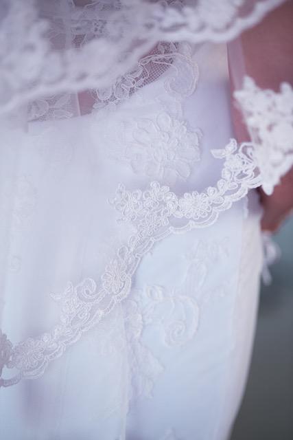 Lace trim detail