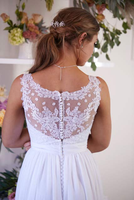 Deb dresses with straps and lace back