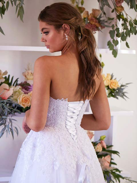 Melbourne deb dress lace up back
