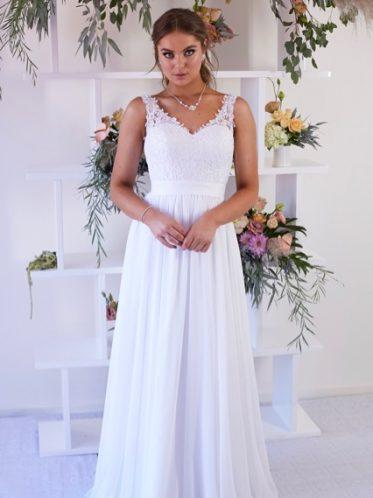 Deb Dresses with straps white