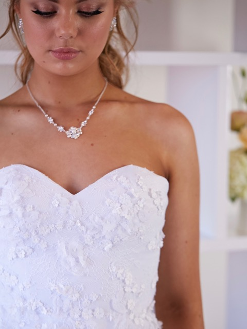 lace debutante dresses close up