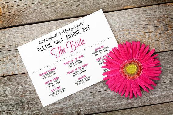 wedding contact list
