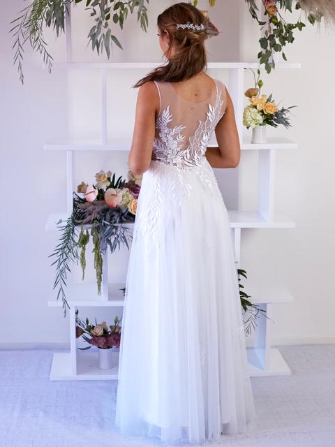 lace low back deb dresses