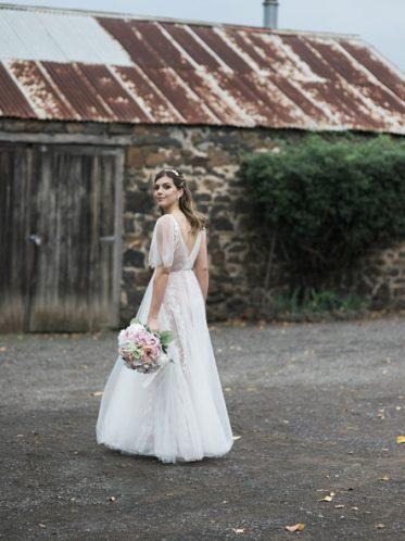 Boho wedding dresses back