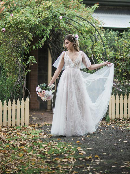 Boho Wedding Dress Wedding Gowns All Styles Leah S Designs