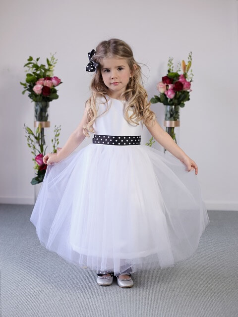 Flower girl in dress