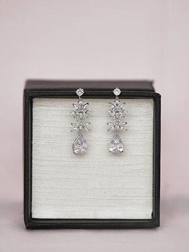 Boho style wedding earrings