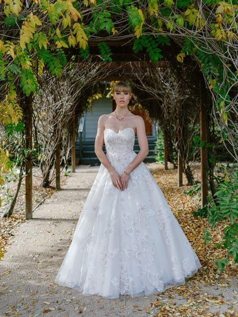 Springtime pink wedding dresses Melbourne