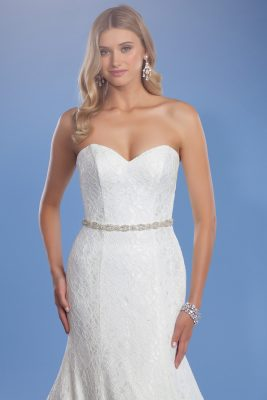 Audrey lace wedding gown belt